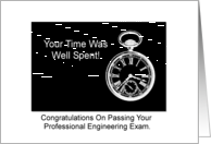 Congratulations Passing Professional Engineering Exam Pocket Watch card