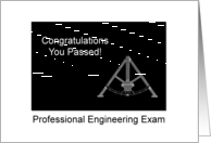 Congratulations On Passing Professional Engineering Exam Protractor card