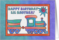 Blue Train, Happy Birthday little Brother card