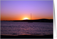 Paros Island, Greece - Sunset Behind Boat card