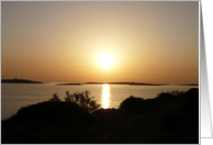 Paros Island, Greece - At Day's End Sunset card