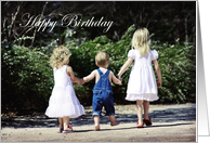 Brother Hand in Hand - Happy Birthday card