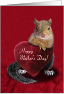 Happy Mother's Day Squirrel with Heart card