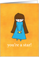 You're A Star! card