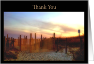 Thank You-Dunes on beach card