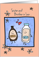 Sister & Brother in Law Anniversary, Made for Each Other card