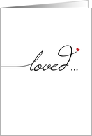 Loved Forever, Wedding Anniversary card