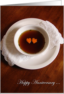 Happy Anniversary, Humor, Consomme Our Love, Two Carrot Hearts card