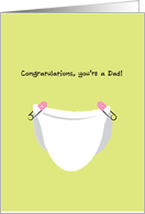 Congratulations on Becoming a Dad, Father, Alot of Changes, Baby Girl card