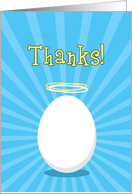 Thanks, You're a Good Egg with Halo, Humorous Card