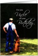 Uncle Birthday, Country Man with Dog Card