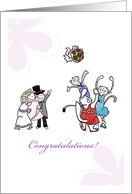 Congratulations marriage for son & daughter-in-law - Cats at wedding card