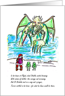 Twas the Night Before Cthulhumas - Funny card