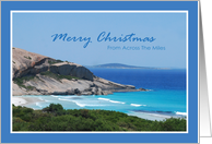 Merry Christmas - Across The Miles card