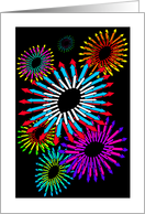 Birthday Party Invitation Fireworks card