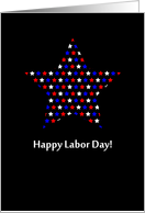 Happy Labor Day Red, White and Blue Stars card