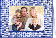 Happy Hanukkah Star of David Photo Card
