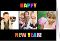 Happy New Year Colorful Photo Card