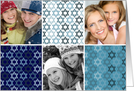 Happy Hanukkah Photo Card with Stars of David card