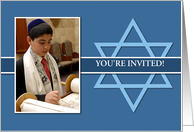 Bar Mitzvah Photo Card Invitation card