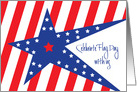 Flag Day Celebration Invitation, Stars & Stripes with Hand Lettering card