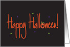 Happy Halloween, with Jack 'o Lantern Letter card