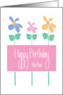 Happy Birthday for Mother, Trio of Tall, Colorful Flowers card