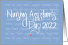 Nursing Assistants Day 2018, Stethoscope and Nursing Qualities card