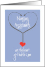 Hand Lettered Nursing Assistants Day, Heart of Healthcare card