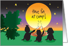 Have fun at Camp, Trio of Campers, Campfire at Sunset card