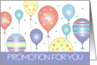 Promotion Congratulations with Colorful Balloons card