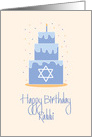 Birthday for Rabbi, Layered Cake with Star of David card