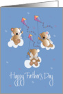 Father's Day, with Trio of Angel Bears flying Colorful Kites card
