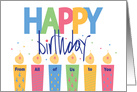 Birthday From All of Us, Patterned Candles & Hand Lettering card