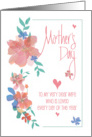 Mother's Day to Wife from Husband, Floral Love You Sweetheart card