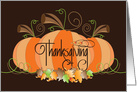 Canadian Thanksgiving Pumpkins with Fall Leaves & Hand Lettering card
