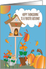 Thanksgiving for Gardener, Watering Can & Colorful Fall Foliage card