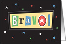 Congratulations, Bravo! with Colorful Letters and Stars card