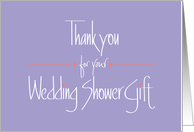 Thank you for Wedding Shower Gift, Hearts and Handlettering card