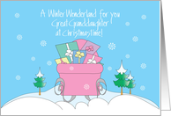 Christmas Winter Wonderland for Great Granddaughter with Sleigh card