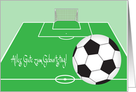 Deutsch Geburtstag mit Fu�ball, German Soccer Birthday card