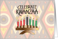 Invitation for Kwanzaa Party, kinara with seven candles card
