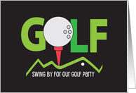 Invitation to Business Golf Party, Putter and Golf Ball card