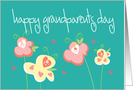 Happy Grandparents Day with Pink and Lavender Hearts card