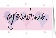 Happy Grandparents Day for Grandma with Pink Hearts card