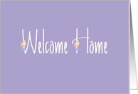 Welcome Home, Handlettering with Colorful Flowers card