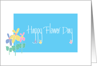 Happy May Day, Happy Flower Day with Paster Flowers card
