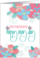 Happy May Day for Great Granddaughter, Happy Flower Day card