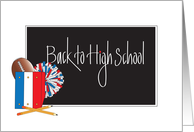 Back to School - High School, Notebooks, Football and Pom Poms card