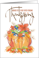 Happy Thanksgiving for Great Grandma, Autumn Leaves card